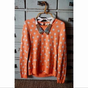 Anthropologie Sweaters - Anthropologie Moth Polka Dot Bluebird Sweater NWT